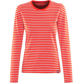 Elkline Hummel T-shirt à manches longues Femme, darkorange-greymelange